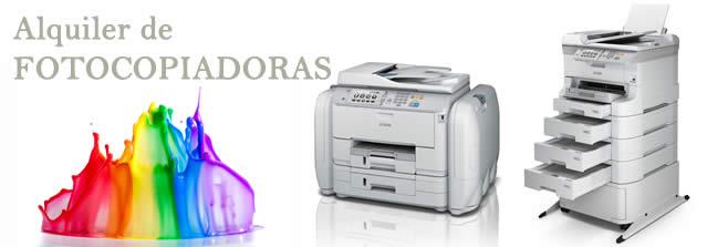 SERVICIOS DE IMPRESIÓN. El renting o alquiler de fotocopiadoras, servicio que aplicamos a máquinas o equipos de impresión o reprografía, los cuales, si bien no aportan solvencia a la empresa, son necesarios para su buen funcionamiento y rendimiento.