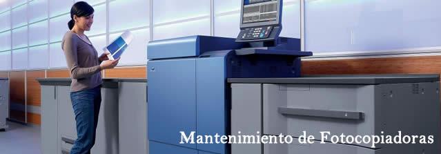 Servicios de Impresión. Nuestro servicio de mantenimiento de fotocopiadoras que normalmente incluimos en estas máquinas, incluyen entre otros, las reparaciones por averías ajenas al desgaste de las fotocopiadoras, la sustitución de piezas de desgaste por uso, al suministro de consumibles, mano de obra, desplazamiento, etc…