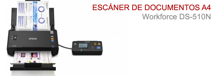 Escáner de documentos A4 Workforce DS-510N