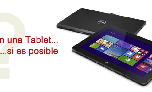 Trabajar con una Tablet si es posible
