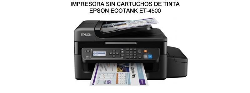 IMPRESORA SIN CARTUCHOS DE TINTA ECOTANK ET-4500