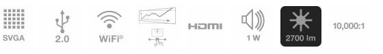 Características del proyector epson inalámbrico