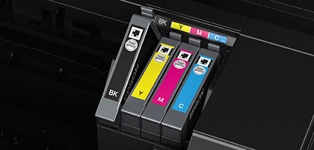 Con los cartuchos independientes de Epson, solo tendrás que sustituir el color agotado y ahorrarás tinta