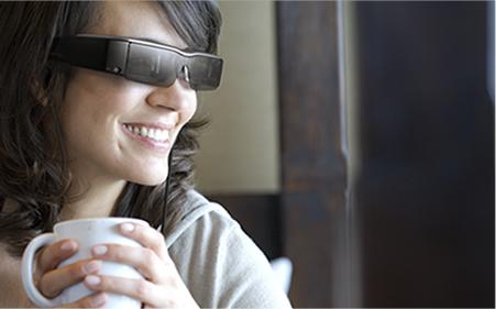 Gafas con una plataforma flexible