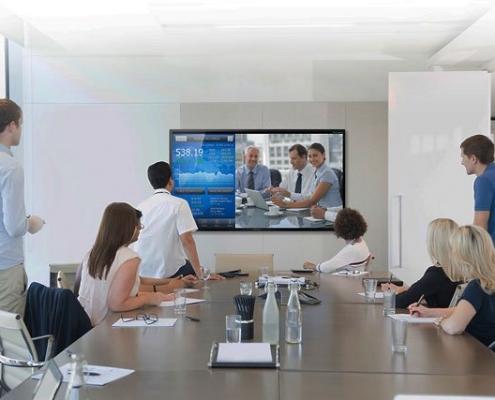 videoconferencias con pantallas interactivas