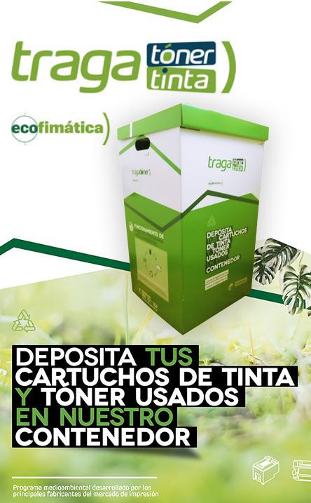 Deposita tus cartuchos de tinta y tóner en nuestro contenedor